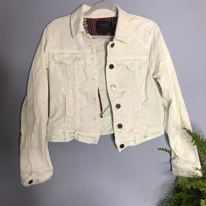 Sanctuary Pastel Mint Denim Jean Jacket Large